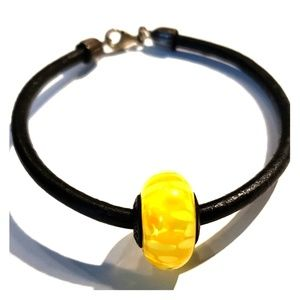 Pandora yellow bead bracelet